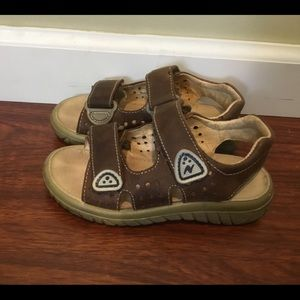 Naturino brown leather sandals boys 28/10.5